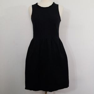 Madewell Fringed Afternoon Black Dress Small